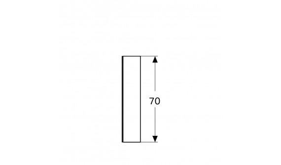 Дзеркальна Шафа Geberit 500.207.00.1 Option 120 см., з підсвіткою, Із 3 Дверцятами: Корпус Дзеркальний, Дверцята Дзеркальні зовні Та Всередині