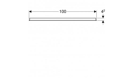 Дзеркало Geberit 500.584.00.1 Option 100 см., з Горизонтальною підсвіткою зверху