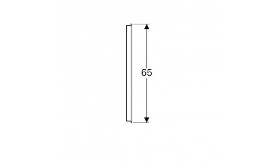 Дзеркало Geberit 500.585.00.1 Option 120 см., з підсвіткою По Горизонталі
